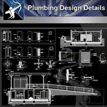 【Architecture CAD Details Collections】Plumbing CAD Detail Drawings V.2(Good)