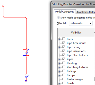 How to Show 1-Line and 2-Lines Pipes in One Revit MEP Drawing – Free