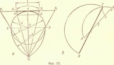 Определение центра окружности и центра дуги окружности ...