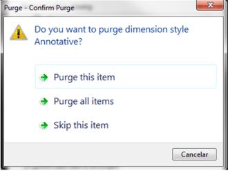 """Aqui te da la opcion de borrar y no borrar todos los objetos que no se necesitan, para opción mas rápida dar clic en """"PURGE ALL ITEMS"""""""