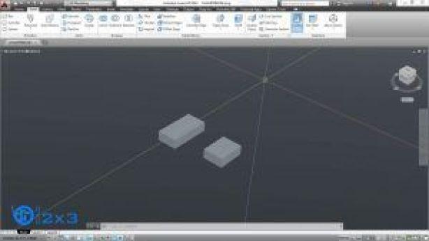 Crea dos prismas rectangulares.