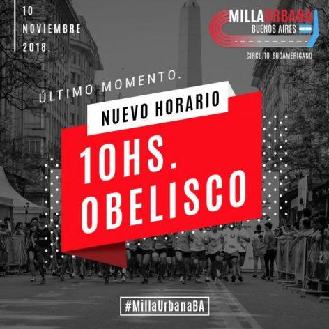 CAMBIO DE HORARIO 4º MILLA URBANA BUENOS AIRES. 1