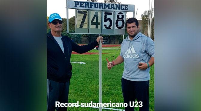 Récord sudamericano u23 de Joaquín Gómez
