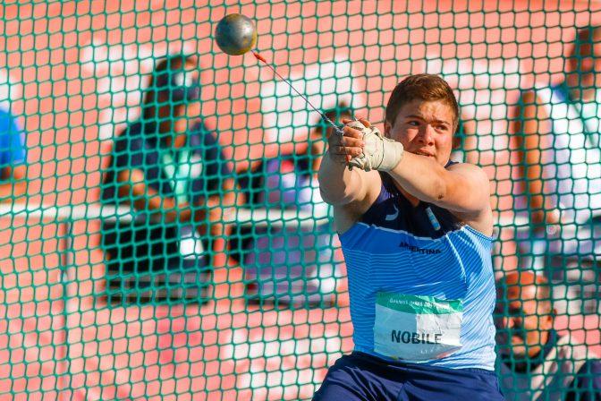 Julio Nóbile terminó 8° en martillo 11
