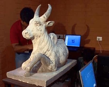 Nandi – a sacred bull sculpture