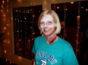 my 'happy zombie' from Bab's McDance... Happy because I got no blood on her shirt.