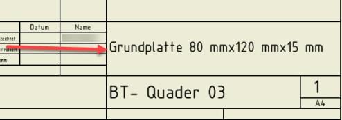Schriftfeld fx