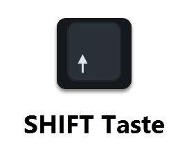 SHIFT oder Umschalttaste