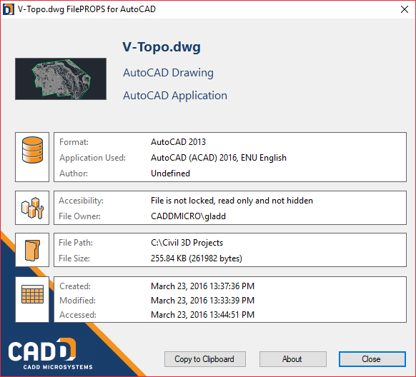 FilePROPS for AutoCAD and Revit - CADD Community