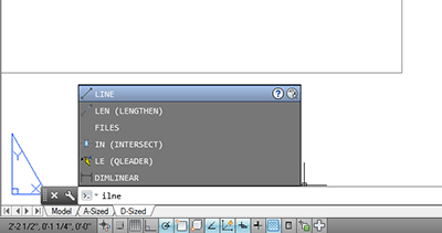 Command Line Enhancements in AutoCAD 2014