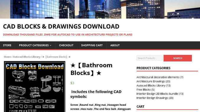 【Bathroom Blocks】Autocad Blocks & Drawings Download