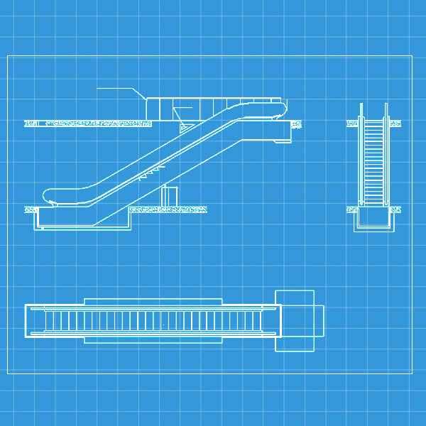 Free Escalator Elevation – Download AUTOCAD Blocks,Drawings