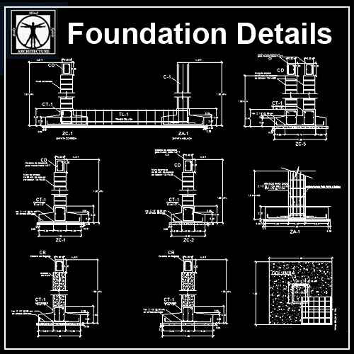 Foundation Details V1 Download Cad Blocks Drawings