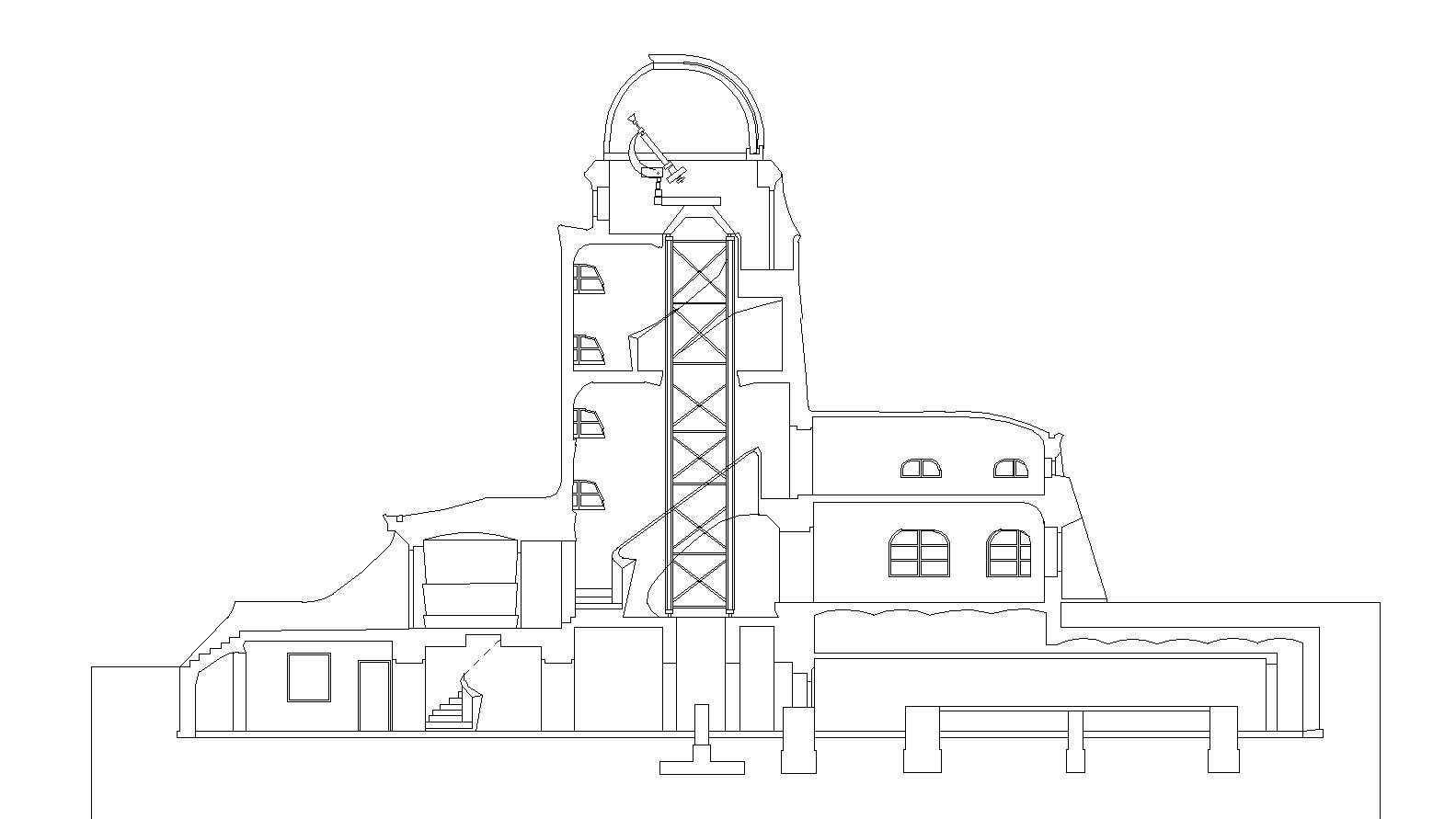 Einstein Tower Download Cad Blocks Drawings Details 3d