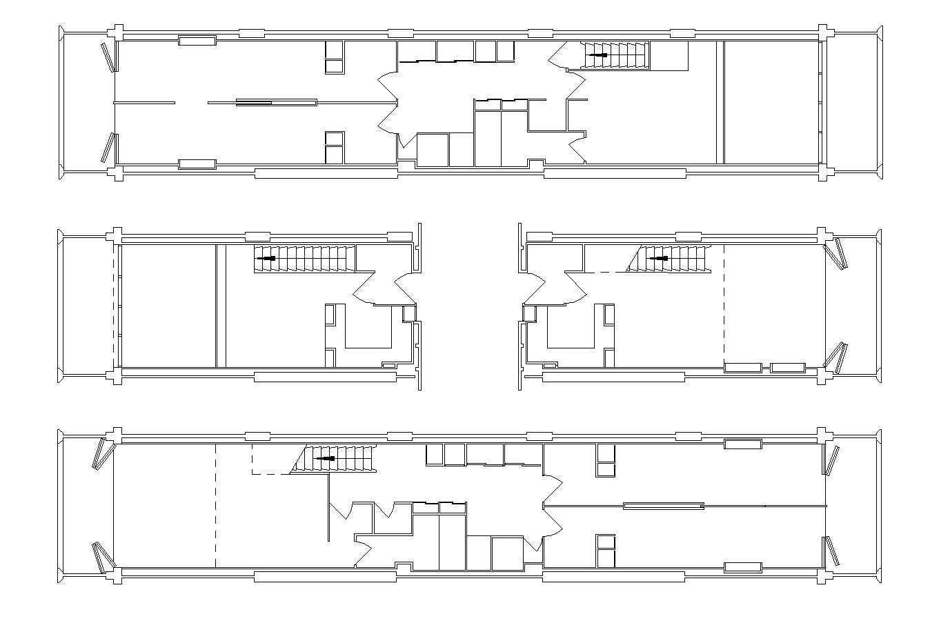 Unit d habitation download cad blocks drawings details for Plan habitation