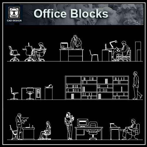 Office Blocks Download Cad Blocks Drawings Details 3d
