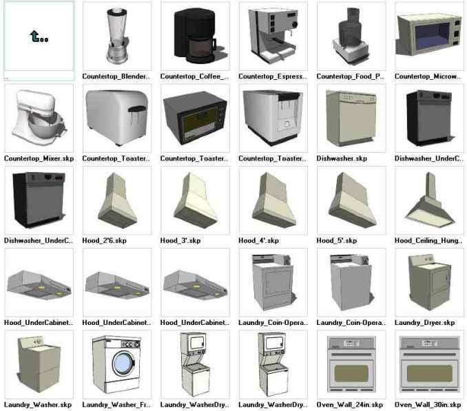 Sketchup Appliances 3D models download