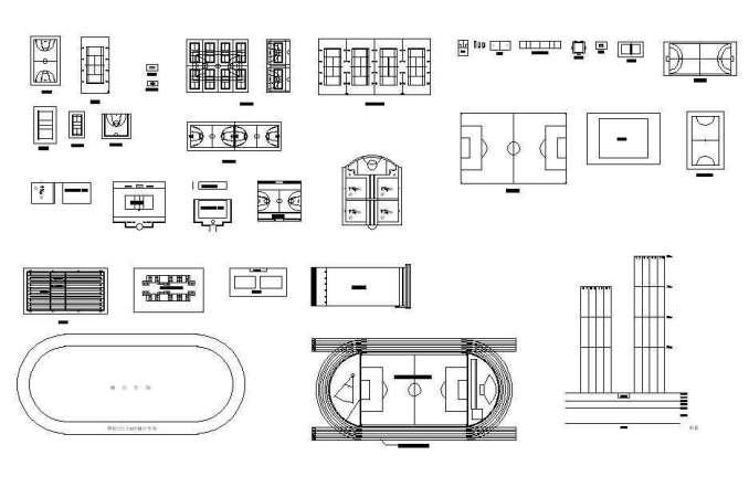 ★【Stadium CAD Blocks-Stadium,Gymnasium, track and field, playground, sports hall】@basketball court, tennis court, badminton court, long jump, high jump ,CAD Blocks,Autocad Blocks,Drawings,CAD Details