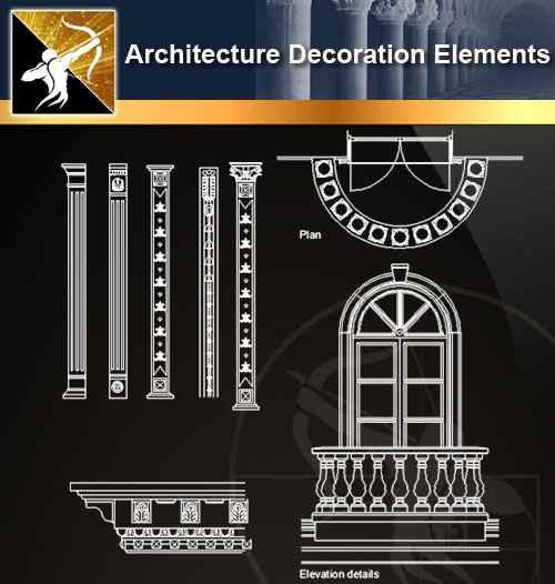 ★【 Free Architecture Decoration Elements V.13】