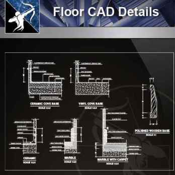 【Architecture CAD Details Collections】Flooring CAD Details V.1