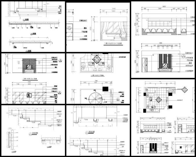 KTV設計、室內設計各類施工大樣、裝潢空間設計大樣、牆紙與石膏板收口節點、壁紙與幕牆收口詳圖、背景牆節點、隔牆地坪接點、木作牆面接點、石材牆面介面接口、混凝土與其他材質介面