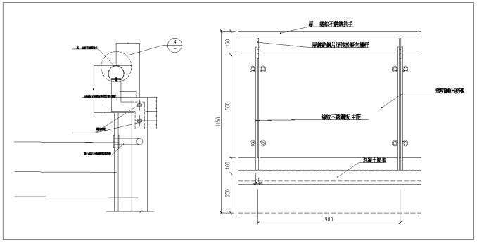 商品內容:扶手欄杆大樣、欄杆詳圖、欄杆細部大樣