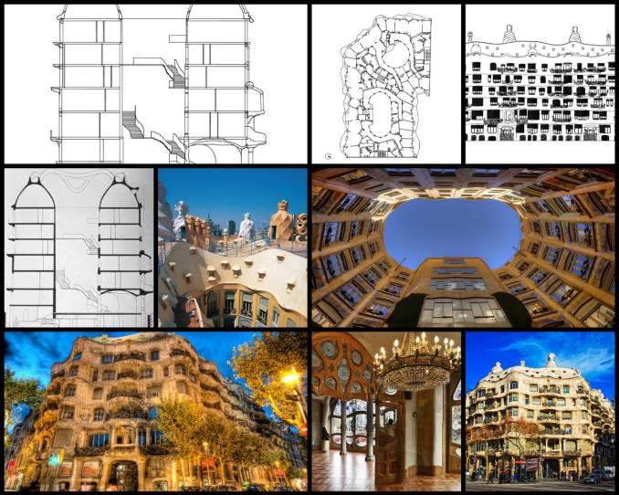 【世界知名建築案例研究CAD設計施工圖】米拉之家Casa Mila-Antoni Gaudi安東尼·高第