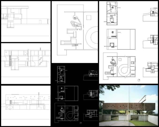 【世界知名建築案例研究CAD設計施工圖】 波爾多住宅Maison a Bordeaux 雷姆·庫哈斯Rem Koolhaas OMA