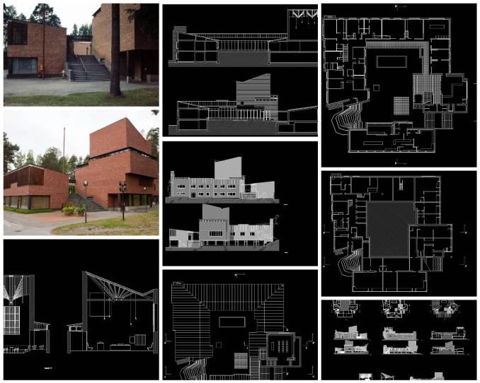 【世界知名建築案例研究CAD設計施工圖】Town Hall市政廳-Alvar Aalto-阿爾瓦·阿爾托
