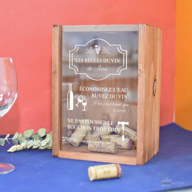 collecteur de bouchons les regles du vin a personnaliser