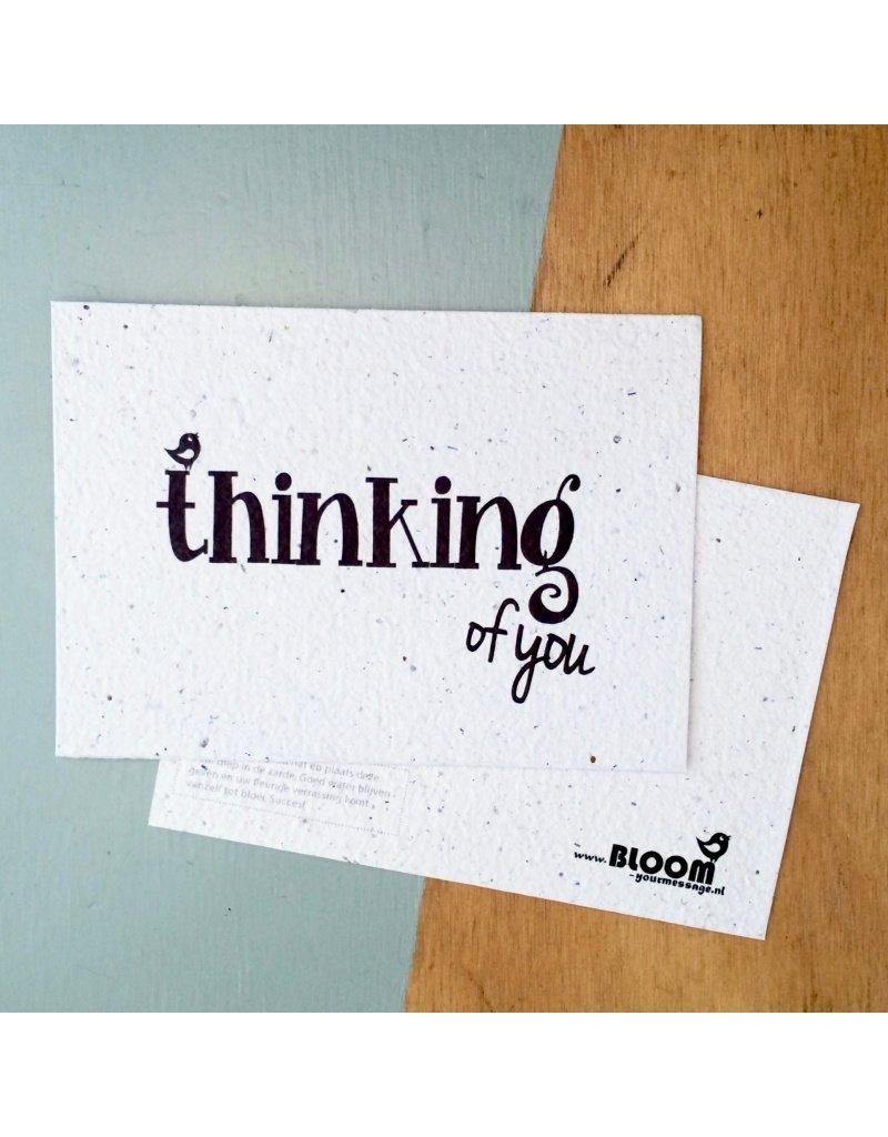 bloom bloeikaart thinking of you