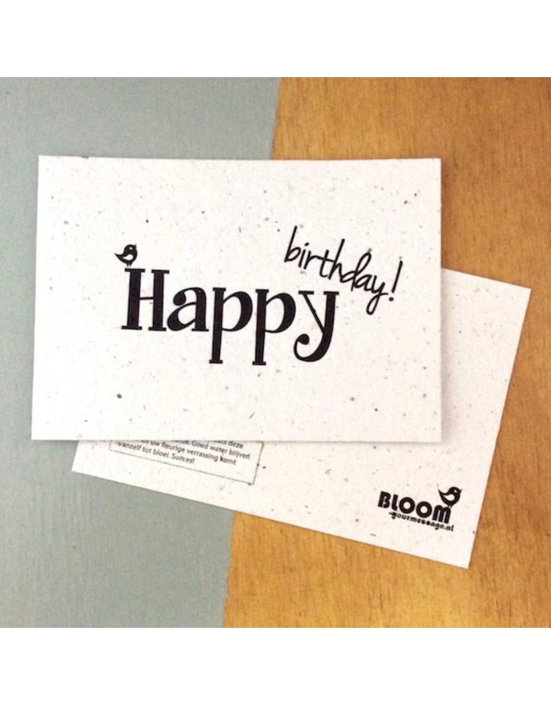 bloom bloeikaart happy birthday