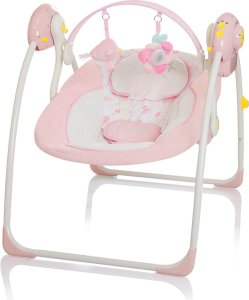 Baby Swing Little World Dreamday roze wipstoeltje