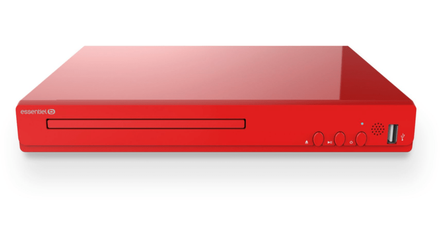 cadeau client lecteur dvd rouge