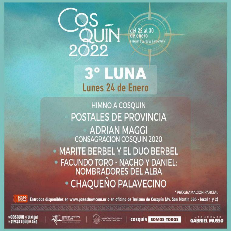 FOTO: Cosquín presentó la programación de su festival 2022.