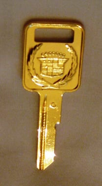 Gold Ignition Key