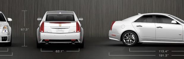 2012 Cadillac CTS-V Sedan Dimensions