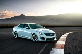 The exclusive 2018 Cadillac CTS-V Glacier Metallic Edition celeb