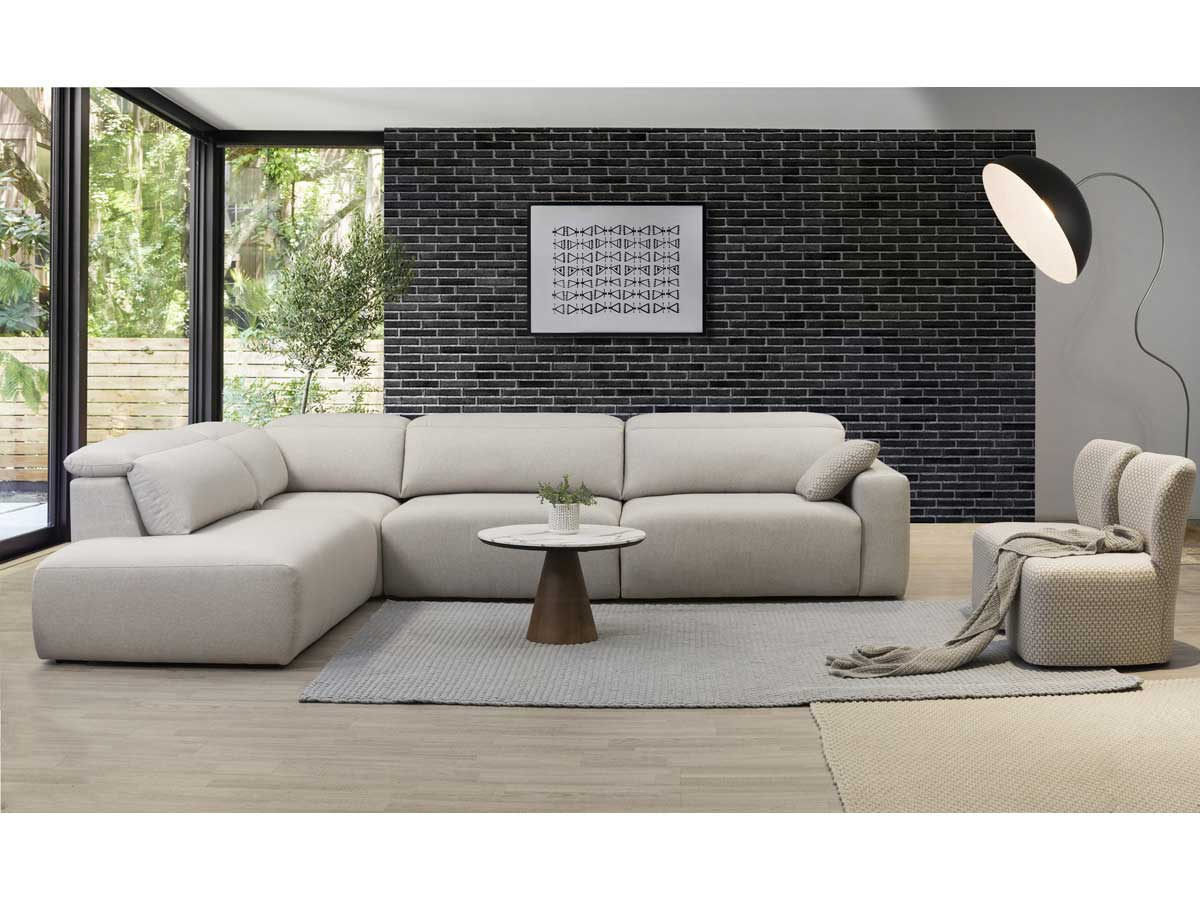 melanie open l shape corner sofa