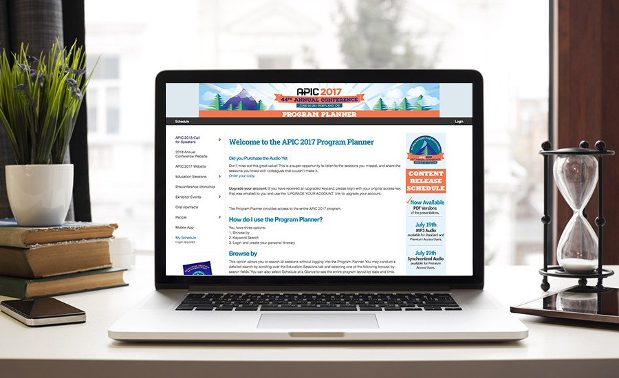 APIC has been doing exhibitor-sponsored sessions for 20 years. Sponsorship Boost worked with APIC to bring their exhibitor-sponsored education online using the Conference Harvester and eventScribe Website.