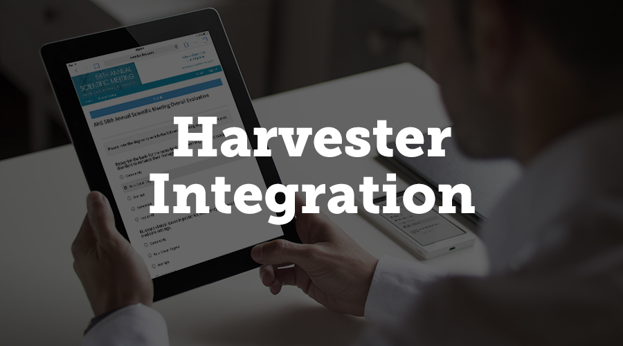 Harvester serves as the back end database for Survey Magnet, storing all of your speaker and presentation data. Filling out your survey information is as easy as importing a spreadsheet into Harvester. You can also import information directly from the Harvester into the Survey Magnet evaluations, including speaker photos and information.