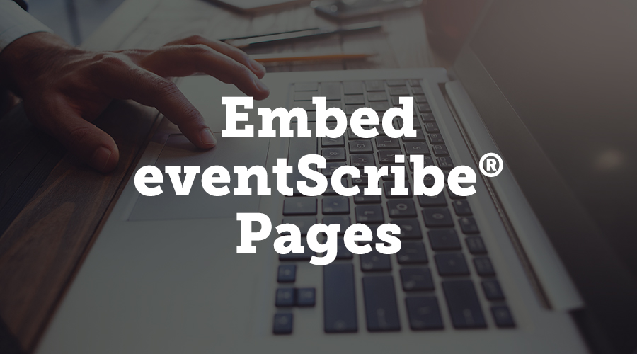 We've added a new option that allows you to embed three eventScribe pages on your organization's non-eventScribe website. You can show your schedule page, speaker list, and booth list on your own website, so visitors can get a quick look at your event information.