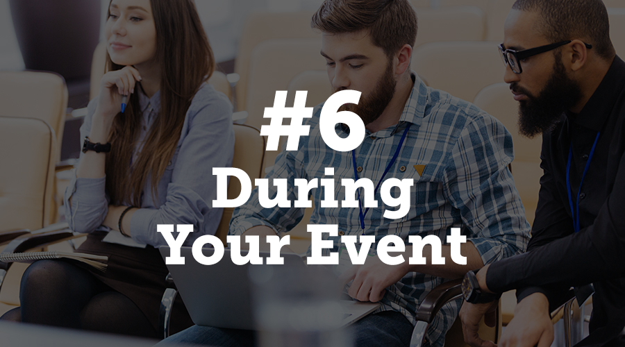 When you're actually hosting the event, you'll need to consider your aims as a business as to why you're hosting the event in the first place. In most cases, you'll be trying to generate sales or attract potential leads. During your event, you can again use marketing automation to show landing pages and send your users relevant information and content.