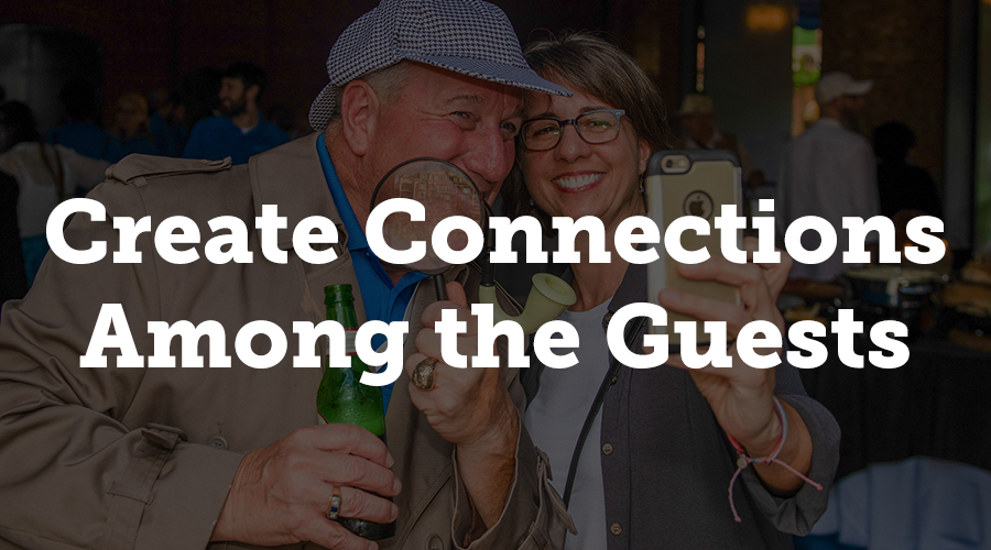 During the conference, you'll likely speak with dozens upon dozens of guests. Of course, you can't remember every face and name, but some conversations will remain in your forethought. Have you considered connecting some of the guests with one another?
