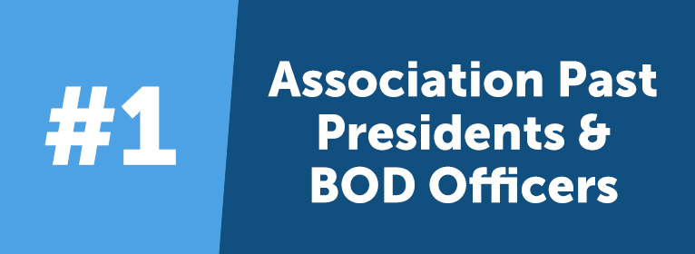 As a thank you for their service and contribution to the organization, past association presidents and officers get a lifetime VIP status. Even after retirement, they can enjoy the benefits of membership and share their knowledge with new members and old friends at AUA's annual conference.