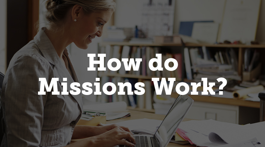 Missions are triggered when you start a new project with CadmiumCD. The Mission for your new project will show up on the myCadmium Dashboard, and you will also be prompted to complete any relevant Mission when you launch your project.