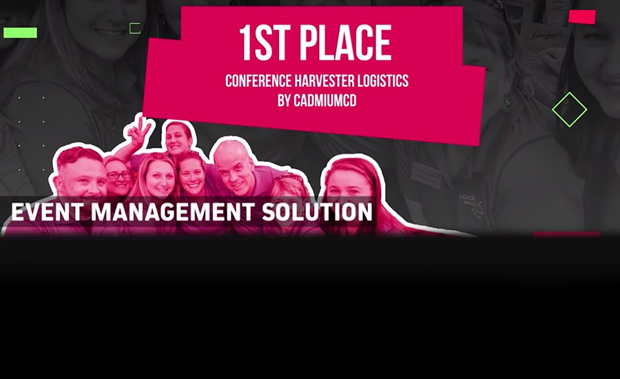 CadmiumCD takes 1st place for Eventex Awards Best Event Management Software