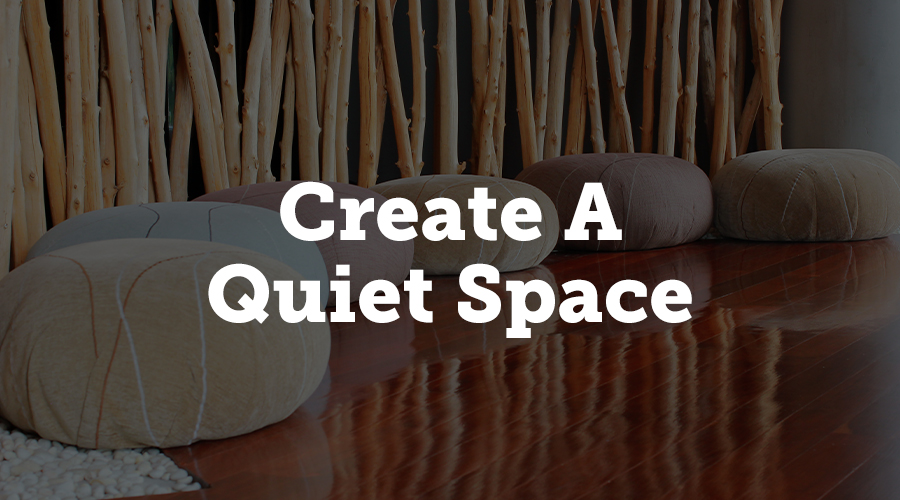 Create a quiet space for people to engage in self care at your conference