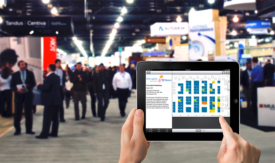 CadmiumCD interactive floor plan can help attendees navigate any tradeshow floor.