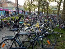 Bikes near railway station, Gent
